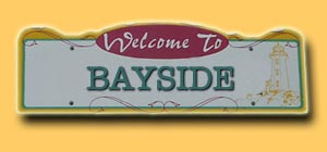 Bayside Road Sign