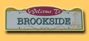 Brookside Road Sign