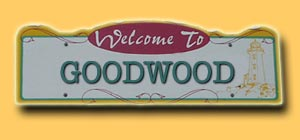 Goodwood Road Sign