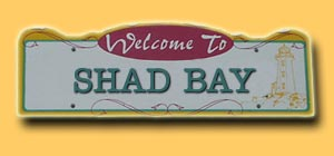 Shad Bay Road Sign