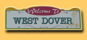 West Dover Road Sign