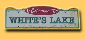 White's Lake Road Sign